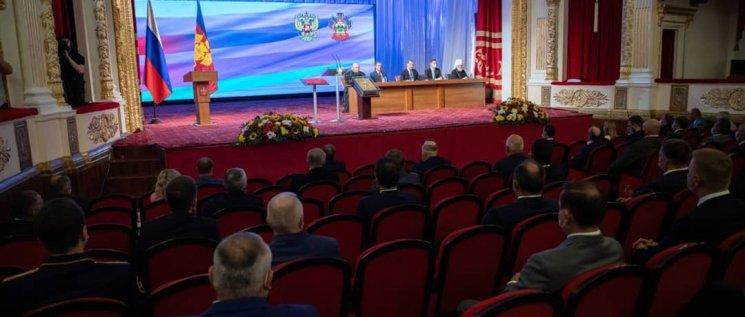 Олег Бойченко принял участие  в внеочередном пленарном заседании,посвящённом вступлению в должность губернатора Краснодарского края Вениамина Ивановича Кондратьева.