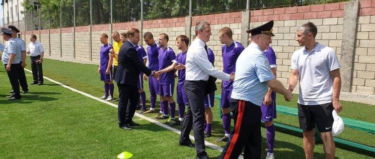 Олег Бойченко принял участие в торжественном открытии командного чемпионата по мини-футболу среди территориальных органов МВД России.