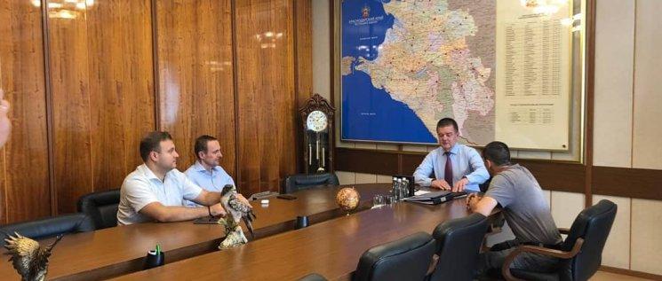 Олег Бойченко  с коллегами вице-спикером ЗСК Александром Трубилиным и Сергеем Прокопенко провели совместный прием.